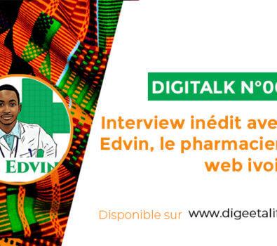 Interview Edvin highlith 395x350 - Interview inédit avec docteur Edvin, le pharmacien du web ivoirien