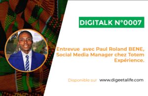 Social Media Manager chez Totem Expérience, Paul Roland BENE nous dévoile ses secrets dans lors d'une entrevue exceptionnelle.