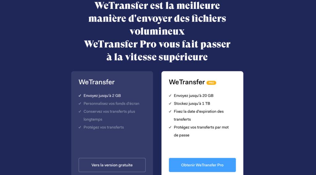Envoie de fichiers volumineux Wetransfer 1024x569 - Envoie de fichiers lourds en ligne: les 5 meilleurs outils.
